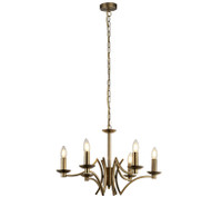 91413126AB York 6 Light Antique Brass Chandelier
