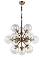 41237012 Mars 12lt pendant Antique Gold/Black