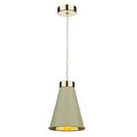 David Hunt HYD012 Hyde Single Pendant Brass With Pebble Shade