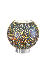 49993 Explosion Table Lamp Chrome & Glass