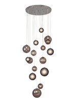 2LT39A Regal 16 light pendant Polished Chrome
