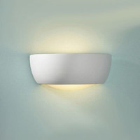DAR MIL372 Milo Small Ceramic Wall Light 60W (Paintable)