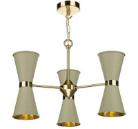 David Hunt HYD062 6 Light Pendant in Brass with Pebble Metal Shade