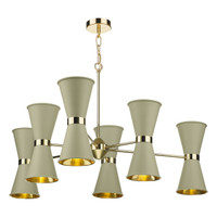 David Hunt HYD122 Hyde 12 Light Brass Pendant With Pebble Shades