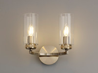 2LT92C Darla Twin Wall light Antique Brass