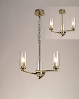 2LT91B  Darla 3 light Antique Brass