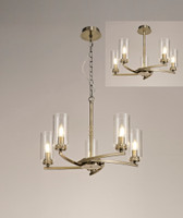 2LT92A  Darla 5 light Antique Brass