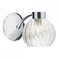 DSAY100750 1 Light Chrome Wall Light Polished Chrome