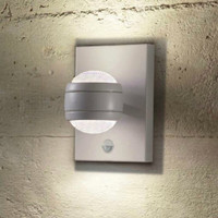 4096019 Outdoor Painted Silver Pir Wall Light