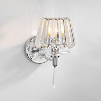 DAR SEL0750 Selina Wall Light Chrome/Crystal