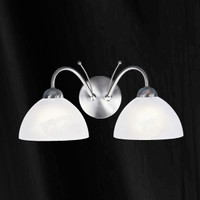 S9111322SS Milanese Twin Wall Light Satin Nickel