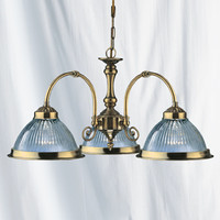 Searchlight 9343-3 American Diner 3 Light Ceiling Light Antique Brass