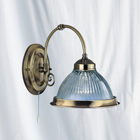 Searchlight 9341-1 American Diner Wall Light Antique Brass