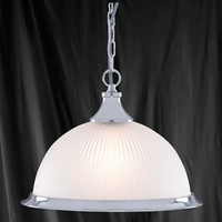 Searchlight 1044 American Diner Single Pendant Satin Nickel