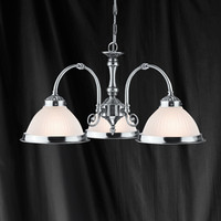 Searchlight 1043-3 American Diner 3 Light Ceiling Light Satin Nickel