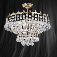 S91911339GO Versailles 5 Light Gold Ceiling Light