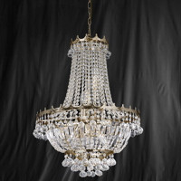 Searchlight 9112-52GO Versailles 9 Light Gold Chandelier