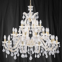 Searchlight 1214-30 Marie Therese 30 Light Polished Brass Chandelier