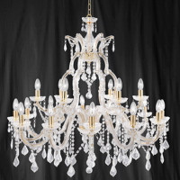 S91121418 Marie Therese 18 Light Polished Brass Chandelier