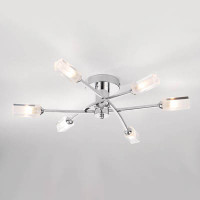 DROM106450 6 Light Ceiling Light Polished Chrome