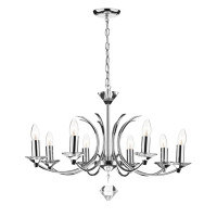 DDEM100850 8 Light Polished Chrome Ceiling Light