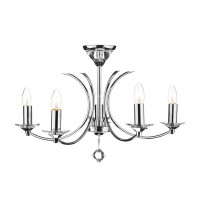 DAR MED0550 Medusa 5 Light Polished Chrome Ceiling Light