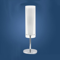 E4189835 1 Light Chrome/Glass Table Lamp