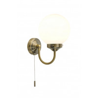 DAR BAR0775 Barclay Wall Light IP44 Antique Brass