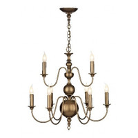 David Hunt  FLE1363 Flemish 9 Light Chandelier Matt Bronze