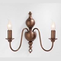 DAR FLE0963 Flemish Twin Wall Light Matt Bronze