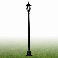 S9182508BK Alex Lamp Post Black 100W