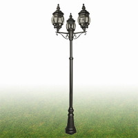 S9171733 Bel Aire Triple Lamp Post IP43 Black