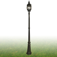 S917174 Bel Aire Lamp Post IP43  Black  100W