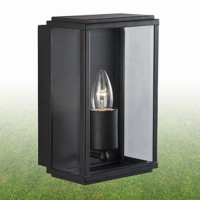 S918204BK Black Outdoor Wall Lantern