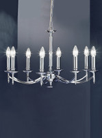 Franklite FL2090/8 Petrushka 8 light chandelier Chrome