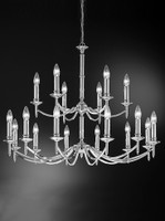 41209018 Rushka 18 light chandelier Chrome