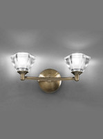 Franklite FL2163/2 Twista Twin Wall Light Bronze