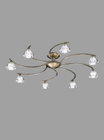 Franklite FL2163/8 Twista 8 light Antique Brass Ceiling Light