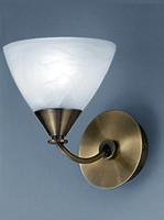 Franklite PE9661/786 Meridian Single wall light Brushed Bronze
