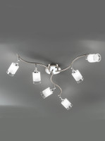 Franklite DP40026 Campani 6 light Satin Nickel Ceiling Light