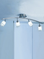 Franklite DP40024 Campani 4 light Ceiling Light Satin Nickel