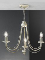 Franklite FL2172/3 Philly 3 light Cream Chandelier