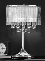 Franklite TL853 Spirit Table Lamp crystal chrome
