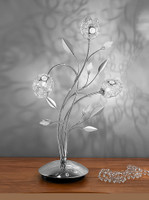 49888 Petal Table Lamp Polished Chrome