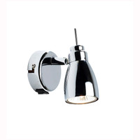 Dar HOU0750 Houston Single Spot Light Polished Chrome