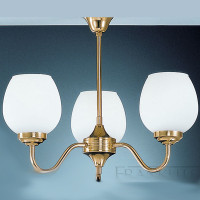Franklite CO3708/715 Alba 3 Light Ceiling Light Brass