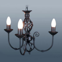 Country Twist 3 Light Black Ceiling Light