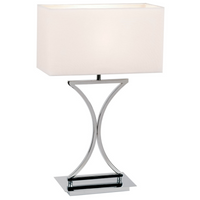 Endon 96930-TLCH 1 Light Chrome Table Lamp With White Shade