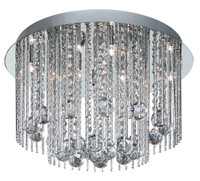 S9180888CC Beatrix 8 Light Chrome & Crystal Ceiling Light