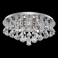 Searchlight 3308-8CC Hanna 8 Light Chrome & Crystal Ceiling Light